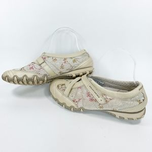 Skechers Floral Mary Jane Walking Shoes Sneakers 8